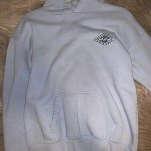 Blue fleece billabong hoodie